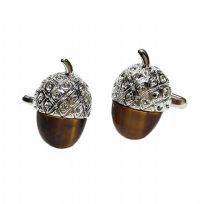 Acrylic Acorn Oak Tree Cufflinks